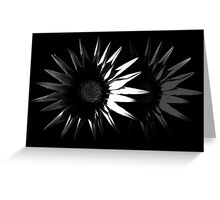 Abstract Flower, Black and White 5/5 Greeting Card