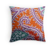 Batik background from indonesia, asian Throw Pillow