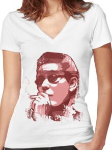 Brother Aniki (Takeshi Kitano) Women's Fitted V-Neck T-Shirt