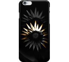 Abstract Flower, Orange 3/5 iPhone Case/Skin