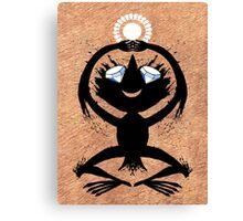 Diamond Eye Sun Dance Rorscharch Creature Canvas Print