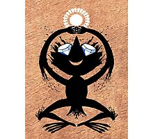 Diamond Eye Sun Dance Rorscharch Creature Photographic Print
