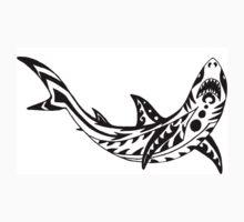 Tribal Shark One Piece - Short Sleeve