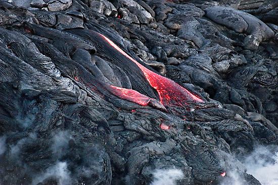 Lava Flow at Kalapana 11 by Alex Preiss