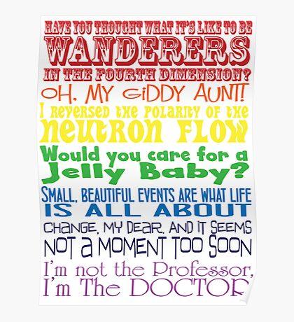 The Doctor speaks - old school Poster