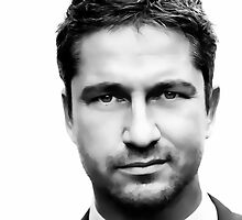 Gerard Butler Digital Art Portrait by David Alexander Elder by David Alexander Elder