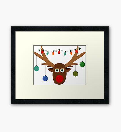 Silly Reindeer Framed Print