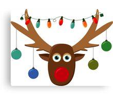 Silly Reindeer Canvas Print