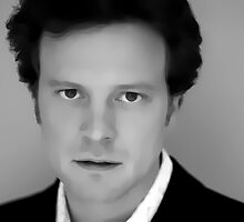 Colin Firth Digital Art Portrait by David Alexander Elder by David Alexander Elder