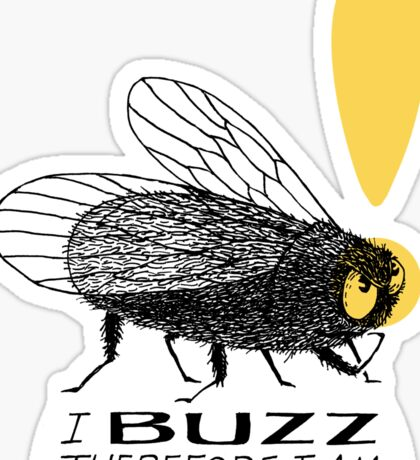 Thinker fly, I buzz therefore I am Sticker