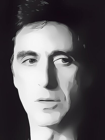 Al Pacino Digital Art Portrait by David Alexander Elder by David Alexander Elder