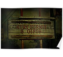 Hand Crafted Country Furniture and Gifts Poster