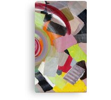 Colorful, yellow, black, orange, red, pink, gray, abstract 3 Canvas Print