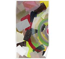Colorful, yellow, black, orange, red, pink, gray, abstract 2 Poster