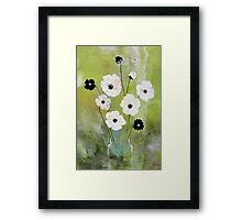 Flower vase Framed Print