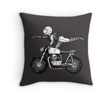 Women Who Ride - Superwoman Throw Pillow