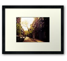 Sunlit Street - Greenwich Village - New York City Framed Print