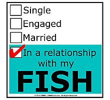 In A Relationship With My Fish Photographic Print