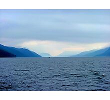 INTO THE DAWNS LIGHT,  LOCH NESS, SCOTLAND..........! Photographic Print