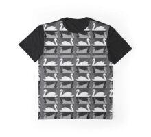 Monochrome Swans Graphic T-Shirt