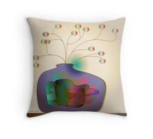 Jug and berries Throw Pillow