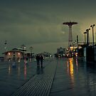 Coney Island in the rain by Marzena Grabczynska Lorenc