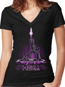 MEGA (TRON) Women's Fitted V-Neck T-Shirt