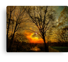 Sunset over Larz Anderson Park Canvas Print