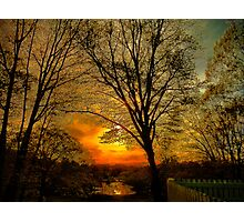 Sunset over Larz Anderson Park Photographic Print