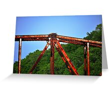 Rusted Bridge with Nest Greeting Card