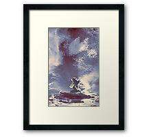 ©HCS Passing By Crepuscular Lights The Cloud Surfer IAB. Framed Print