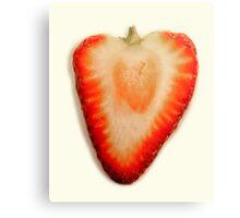 Strawberry Macro Panorama Canvas Print