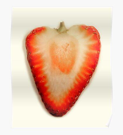 Strawberry Macro Panorama Poster