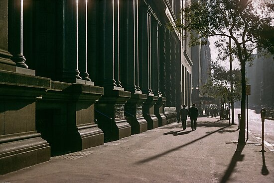 Collins Street in evening at NAB 19570123 0000 by Fred Mitchell