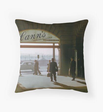 Canns Flinders Street Station 19570103 0036 Throw Pillow