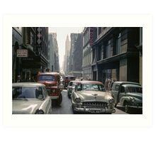 Little Collins Street traffic 19601100 0000 Art Print