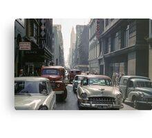 Little Collins Street Traffic 1960 Metal Print