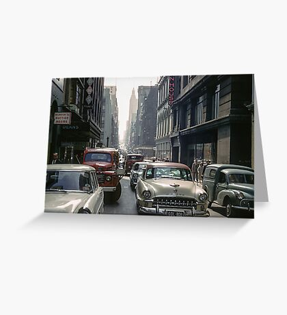 Little Collins Street traffic 19601100 0000 Greeting Card