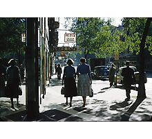 Collins street in morning beside Feltex shop 19570106 0000 Photographic Print
