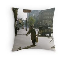 Collins Street Milkman 19580102 0000 Throw Pillow