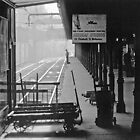 195809030013 Princes Bridge Station BW by Fred Mitchell