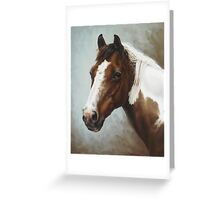 Paint Portrait Greeting Card