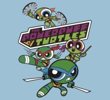 The Powerpuff Turtles Kids Tee