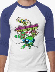 The Powerpuff Turtles Men's Baseball ¾ T-Shirt