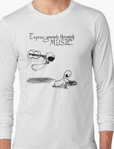Express Yourself Through Music Long Sleeve T-Shirt