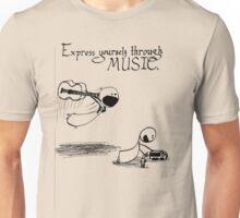 Express Yourself Through Music Unisex T-Shirt