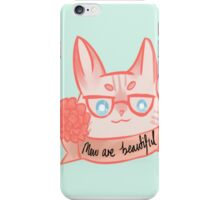 Mew Are Beautiful - Blue iPhone Case/Skin