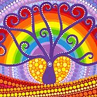Rainbow Boab Tree of Life by Elspeth McLean