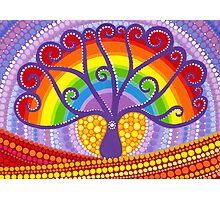 Rainbow Boab Tree of Life Photographic Print