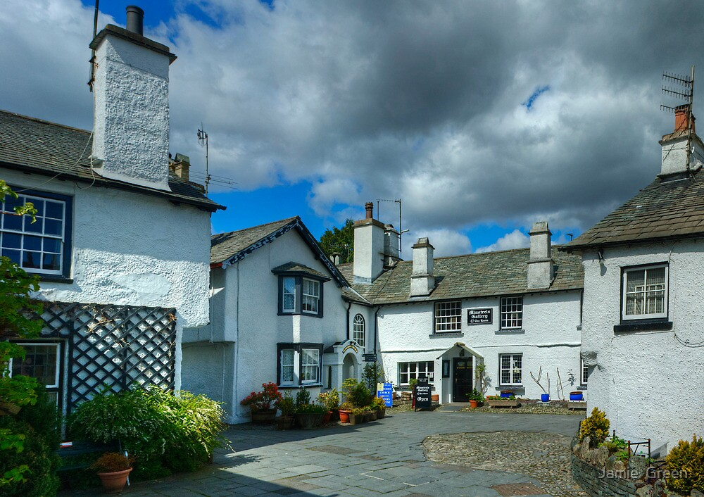 Hawkshead...The Corner Of The Square by Jamie  Green